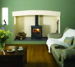 Matt Black Stockton 7 mark2 Multi-fuel version burning logs