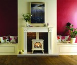 Gas Huntington 30 Ivory in white mantel