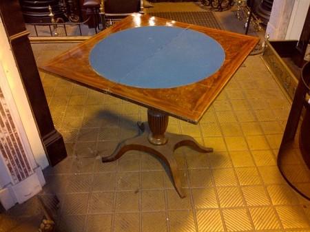 card table in mahogany