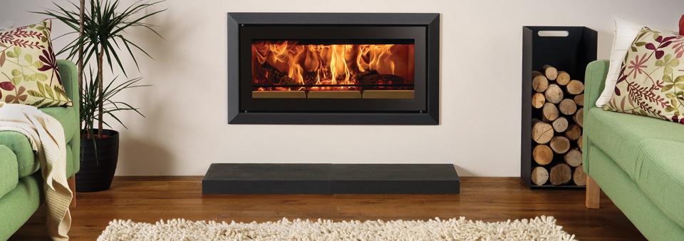 Riva Studio Bauhaus Wood burning Fire