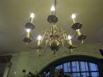 Dutch brass eight-arm chandelier.