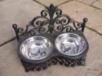 cast iron dog dish small