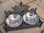 cast iron dog dishes